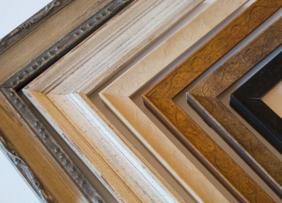 Custom framing at Ricky Evans Gallery