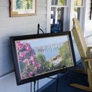 Enjoy art on our porch