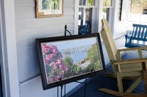 Enjoy art on our porch