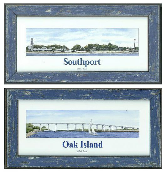 Ricky Evans Watercolor of Southport and Oak Island