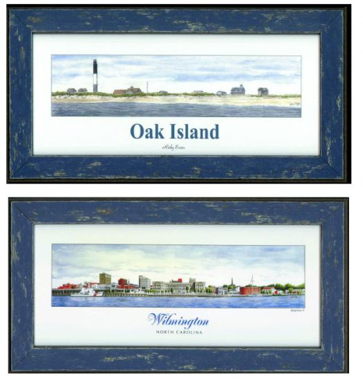 Oak Island and Wilmington watercolor paintings
