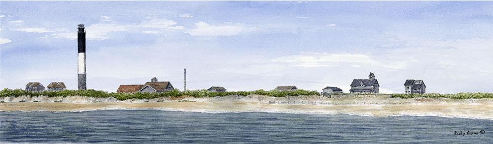 Oak Island Light by Ricky Evans