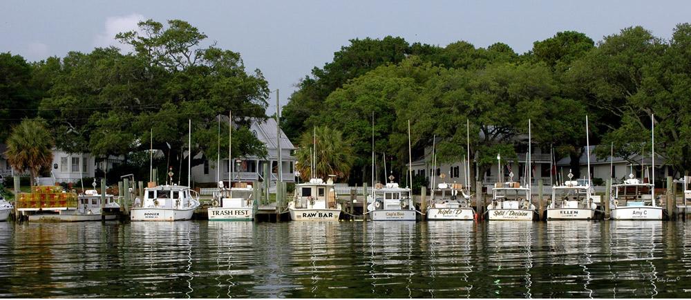 Yacht Basin Boats by Ricky Evans