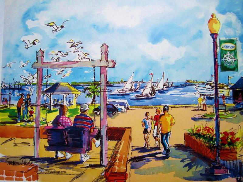 RIVERWALK_ painting by Susan Dade