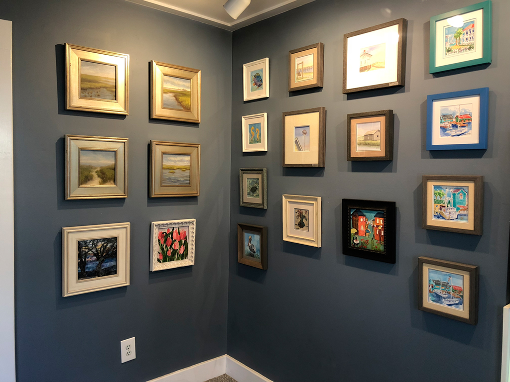 Mini Masterpieces Wall at Ricky Evans Gallery