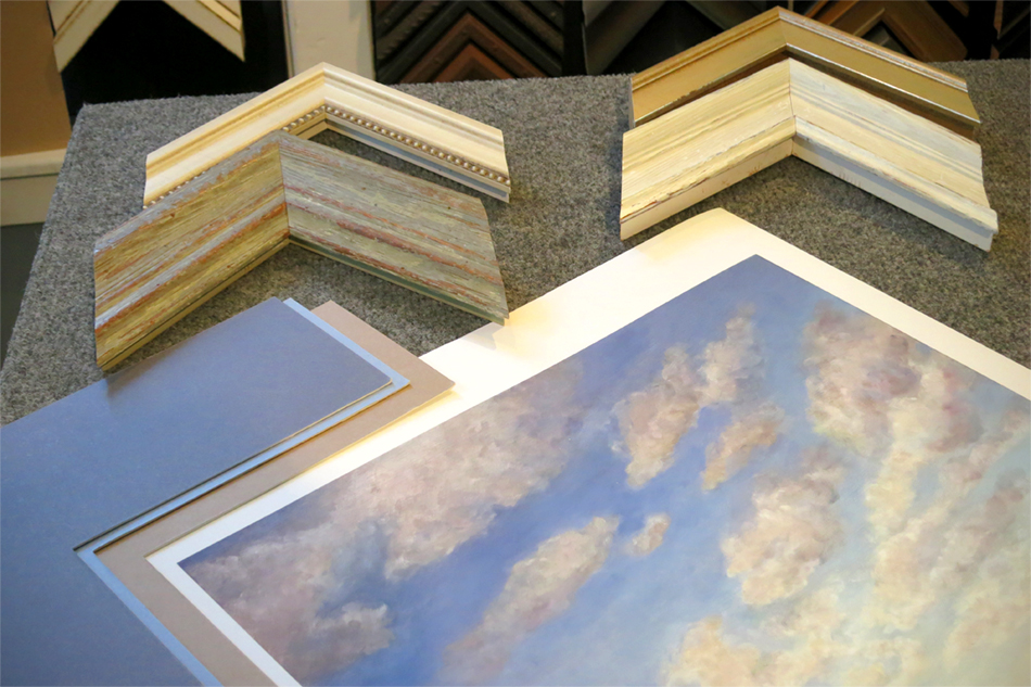 Fine custom framing at Ricky Evans Gallery - Southport NC