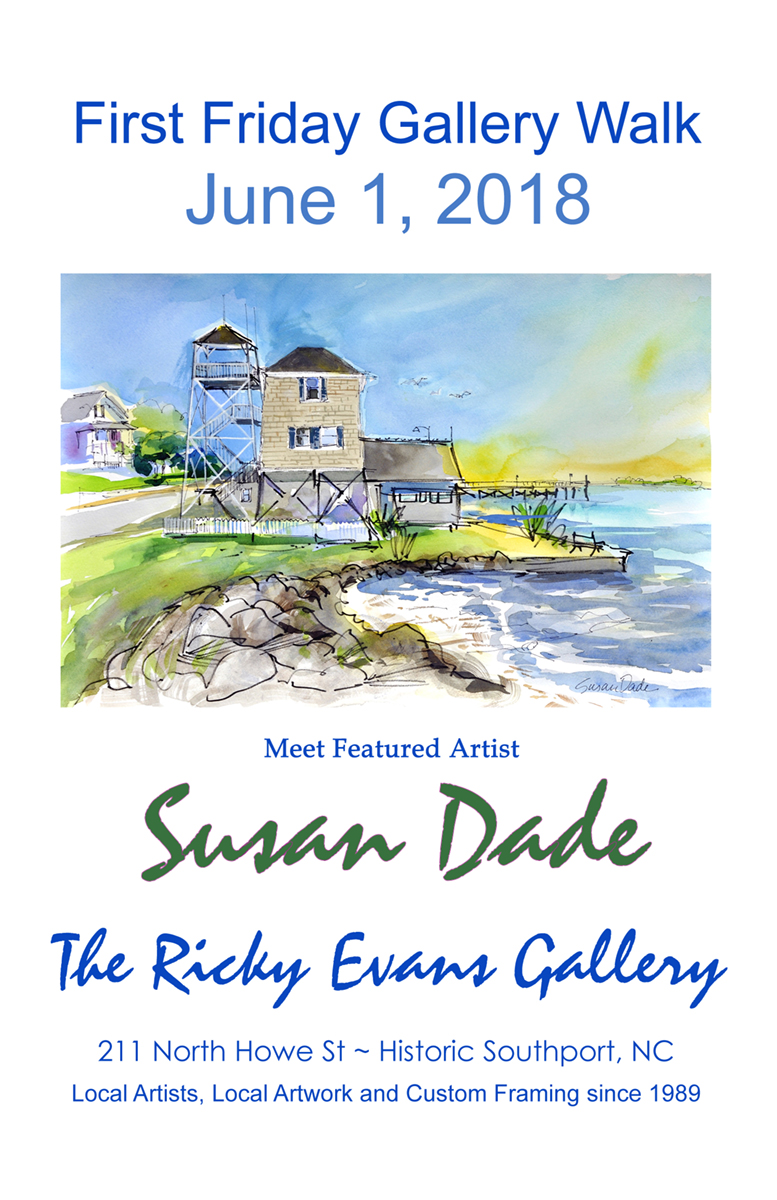 June1 2018 Gallery Walk at Ricky Evans Gallery featuring Susan dade