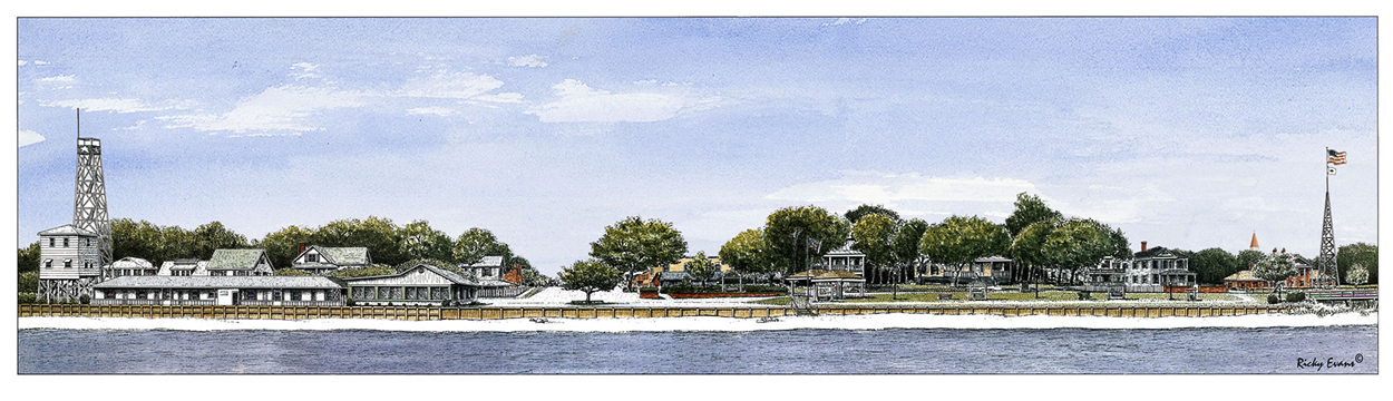 Southport Waterfront painting by Ricky Evans