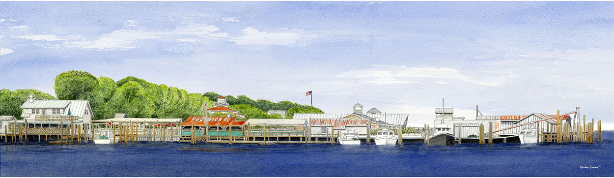 The Old Yacht Basin painting by Ricky Evans