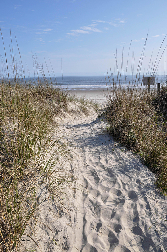 Beach Walk Oak Island photograph by Ricky Evans